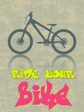 Monte su bici Fotografía de archivo