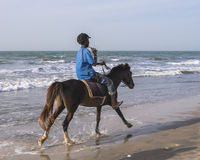 Monte sur la plage Photographie stock libre de droits