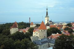 Monte Tallinn de Toompea Fotografia de Stock
