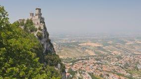 Monte Titano en San Marino almacen de video