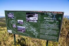 Monte tun Facho, Galizien, Spanien Lizenzfreies Stockfoto
