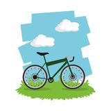 Monte un diseño de la bici Foto de archivo
