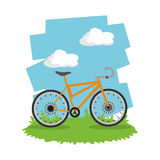 Monte un diseño de la bici Foto de archivo libre de regalías