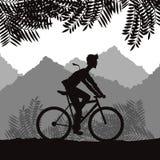 Monte un diseño de la bici Imagenes de archivo