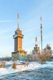Monte a un Feldberg más grueso, el pico más alto de la montaña de Taunus Imagen de archivo
