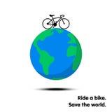 Monte una bici ilustración del vector