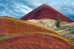 Monte vermelho Fotos de Stock