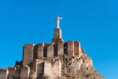 Monteagudo, Statue of Jesus near Murcia, Spain Royalty Free Stock Images