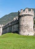 Montebello城堡,贝林佐纳,瑞士 库存图片