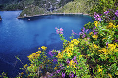 Montebello湖在恰帕斯州 图库摄影