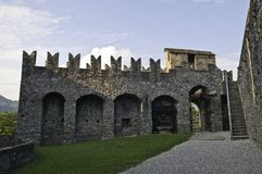 Montebello. Bellinzona is the capital of the canton Ticino in Switzerland Royalty Free Stock Image