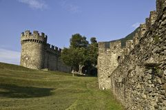 Montebello. Bellinzona is the capital of the canton Ticino in Switzerland Royalty Free Stock Photo