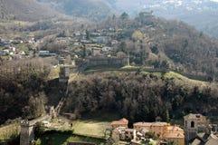 Montebello Castle. Located in Bellinzona (Swiss), one of the three castles inserted UNESCO list Royalty Free Stock Photos