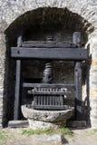 Montebello castle at Bellinzona on the Swiss alps. Unesco world heritage Royalty Free Stock Photography