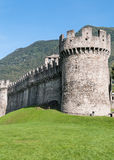 Montebello Castle, Bellinzona, Switzerland Stock Images