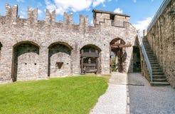 Montebello Castle of Bellinzona. Montebello Castle of Bellinzona, Ticino, Switzerland Royalty Free Stock Image
