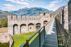 Montebello Castle of Bellinzona. Montebello Castle of Bellinzona, Ticino, Switzerland Royalty Free Stock Photos