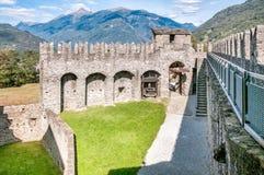 Montebello Castle of Bellinzona. Montebello Castle of Bellinzona, Ticino, Switzerland Stock Image