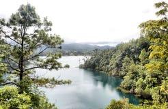 Montebello Lake. Image of Lagunas de Montebello at Chiapas Mexico Stock Photos
