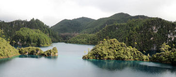 Montebello Lakes. Image of Lagunas de Montebello at Chiapas Mexico Stock Image
