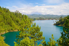 Montebello National Park, Chiapas state, Mexico, May 25. Montebello Lakes surrounded by forests Stock Photo