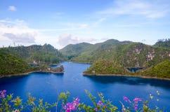 Montebello nationalpark, Chiapas stat, Mexico, Maj 25 arkivbild
