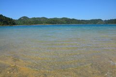 Montebellomeren in Chiapas Mexico stock foto's