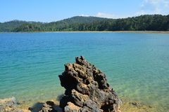 Montebellomeren in Chiapas Mexico royalty-vrije stock foto