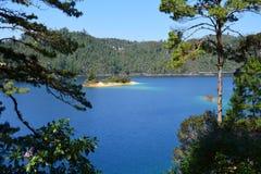 Montebellomeren in Chiapas Mexico stock foto