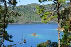 Montebellomeren in Chiapas Mexico royalty-vrije stock afbeelding