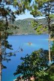 Montebellomeren in Chiapas Mexico stock fotografie