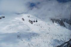 Montebianco mont blanc Royalty-vrije Stock Afbeelding