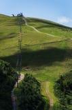 Montecampione, Lombardia升降椅  免版税库存照片