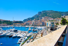 Montecarlo Bay in Monaco. View of the Montecarlo Bay in Monaco Stock Images