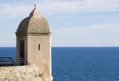 Montecarlo fortress stock image