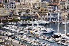 Montecarlo marina harbor panorama Stock Images