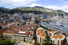 Montecarlo marina harbor panorama Royalty Free Stock Photography