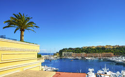 Montecarlo Monaco Ville old town principality and harbor view. A Royalty Free Stock Photos