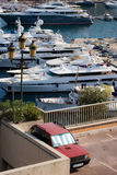 MONTECARLO YATCH MARINA Royalty Free Stock Photos