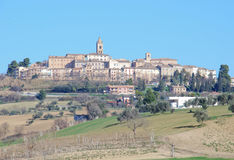 Montecassiano. Country between Montecassiano and Macerata (Marche, Italy) - Landscape in winter Stock Image