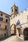 Montecassiano (Macerata) - Historic Palace. Montecassiano (Macerata, Marches, Italy) - Historic Palace, with staircase and arcade Royalty Free Stock Photo