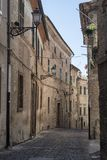 Montecassiano Macerata, Marches, Italy, historic town. Montecassiano Macerata, Marches, Italy, old buildings in the historic town Royalty Free Stock Image