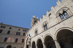 Montecassiano Macerata, Marches, Italy, historic town. Montecassiano Macerata, Marches, Italy, old buildings in the historic town. Palazzo dei Priori Stock Images