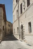 Montecassiano Macerata, Marches, Italy, historic town. Montecassiano Macerata, Marches, Italy, old buildings in the historic town Stock Photography