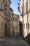 Montecassiano Macerata, Marches, Italy, historic town. Montecassiano Macerata, Marches, Italy, old buildings in the historic town Stock Photos