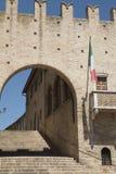 Montecassiano Macerata, Marches, Italy, historic town. Montecassiano Macerata, Marches, Italy, old buildings in the historic town. Palazzo dei Priori Royalty Free Stock Photos