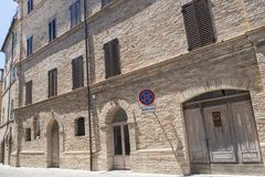 Montecassiano Macerata, Marches, Italy, historic town. Montecassiano Macerata, Marches, Italy, old buildings in the historic town Stock Photo