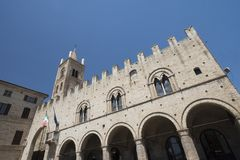 Montecassiano Macerata, Marches, Italy, historic town Royalty Free Stock Photos