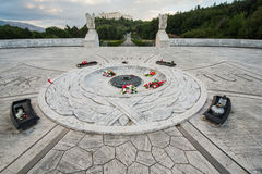 Montecassino的波兰公墓 免版税库存照片