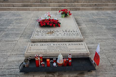 Montecassino的波兰公墓 库存图片